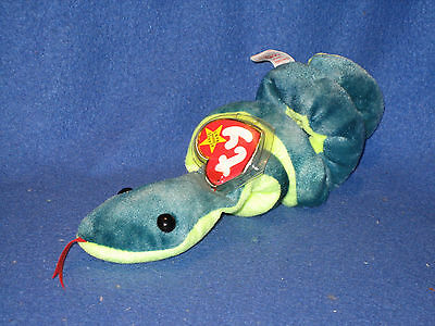 TY HISSY the SNAKE BEANIE BABY - MINT with MINT TAGS