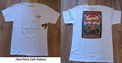 Hard Rock Cafe Krakow City T-Shirt white new with Tags L -Large