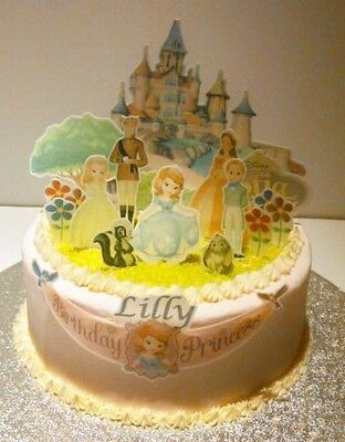 Sofia the First Edible Cake Topper 3D Cake Scene Personalized (Precut available)