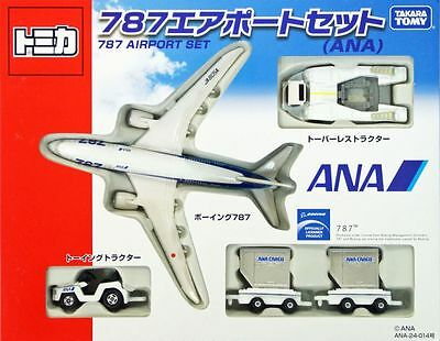 Tomy Takara Tomica Airlines All Nippon Boeing 787 Airport Set Tomica Japan RARE
