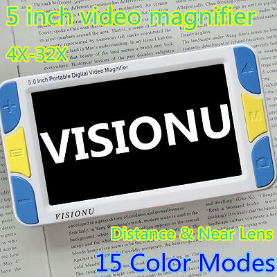 5 inch Portable Electronic Video Magnifier Reading Aide for Low Vision