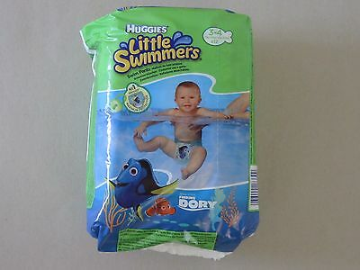 3 packs Huggies Little Swimmers Swim Nappies Pants Size 3 - 4   -  36 nappies