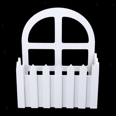 Wooden Sill Fencing Picket Fence Pot Container Flowers Plant DIY Decoration