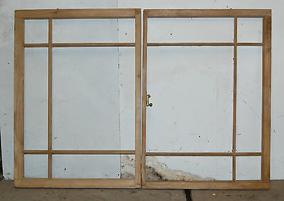 A PAIR OF RECLAIMED STRIPPED PINE SASH WINDOWS UNGLAZED ref 621