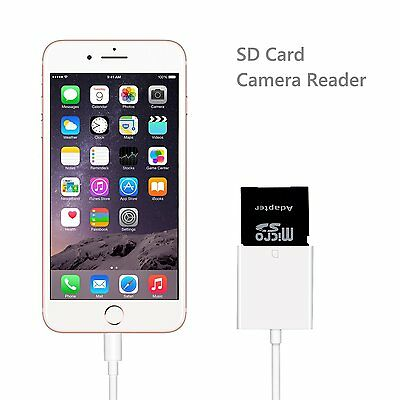 OEM Lightning to SD Card Camera Reader Connector USB Adapter for iPhone 7 Plus 6