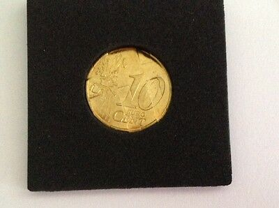 Piece Fautee  10 Centimes Euros 1999  Stries Fines France
