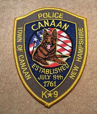 NH Town of Canaan New Hampshire K-9 Unit Police Patch
