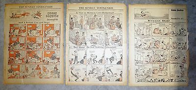 Lot of 3 - 1911 Florida Color Comic Sections - Fred Opper & Rudolph Dirks