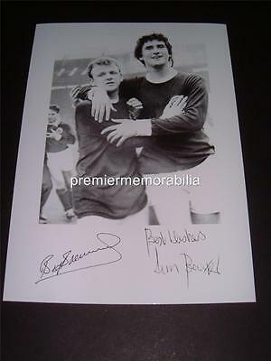 SCOTLAND v ENGLAND 1967 BILLY BREMNER & JIM BAXTER SIGNED (PRINTED) EXCLUSIVE