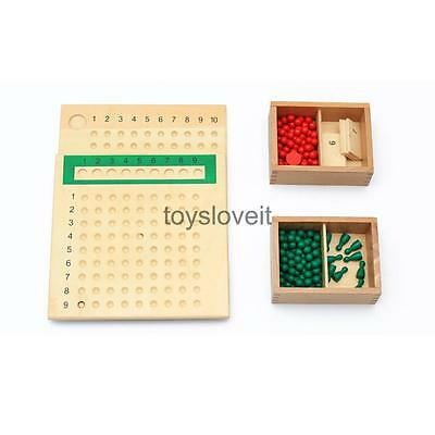 Wooden Multiply & Divide Boards Montessori Early Learning Toys for Kids Gift