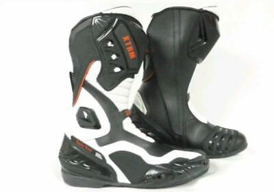 Xtrm Blade Motorbike Motorcycle Sports Armour On Road Boots White Uk Size 5