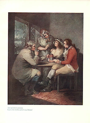 Antique British Military Print of The Soldier's Return
