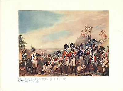 Antique British Military Print of Volunteer Corps of the City of London 1799