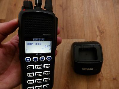 Simoco SRP 9180 UHF (400-470 Mhz ) & Charger , USED Item ,.