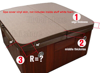 """91"""" spa cover outside vinyl  only replacement  hot tub cover skin customize size"""