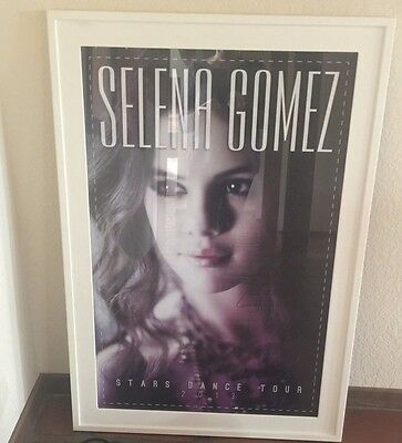 Selena Gomez Poster Signed Authentic Framed 2013 Tour Stars Dance Gift Rare Girl