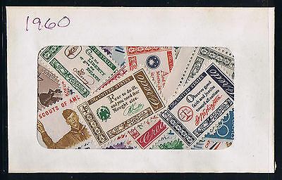 US Postage 1960 Year Set of Postage Stamps