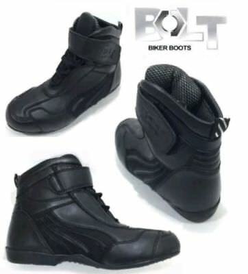 Bolt R22  Adults Motorcycle Motorbike Short Boots New Black New 2017 Uk Size 11
