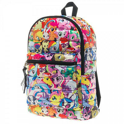 My Little Pony Ponies All Over Print Licensed Puffy Backpack School Bag - Multi
