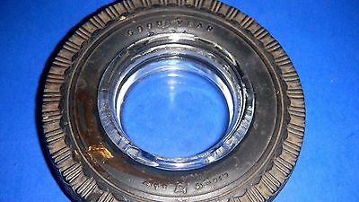 "Vintage GOODYEAR ""Super-Sport"" Real Rubber Tire Advertising Ashtray - Man Cave"