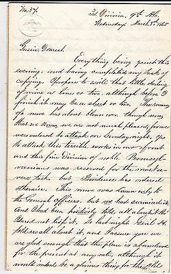 Civil War Letter Major Wm. Hodgkins To His Wife. 7 Pages. Very Important