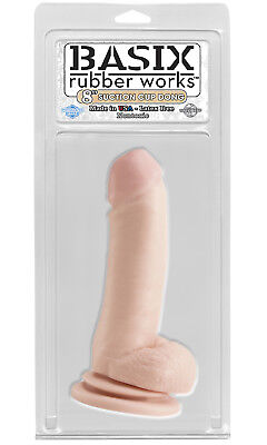 Basix Dong w/Suction Cup 8in. Flesh Dildo/Dong Sex Toy
