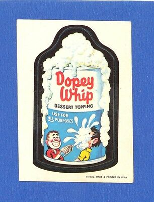 1973 Topps Original Wacky Packages 1st Series Dopey Whip white back