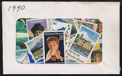 US Postage 1990 Year Set of Postage Stamps