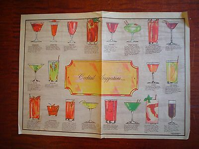 1967 Cocktail Suggestions Paperades Westerly Rhode Island Great colors