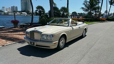 2001 Rolls-Royce Corniche Convertible 2001 Rolls Corniche All Books And Records Maintained At Local Rolls Dealership