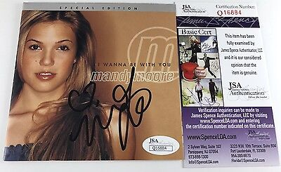 MANDY MOORE signed CD COVER INSERT I Wanna Be With You Special Edition JSA