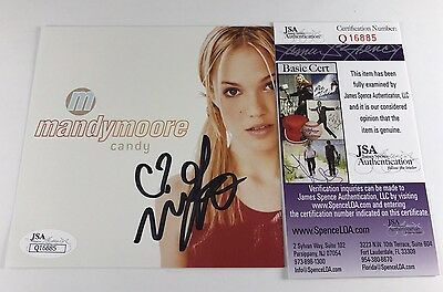 MANDY MOORE signed CD COVER INSERT CANDY Pop Music JSA Authentication