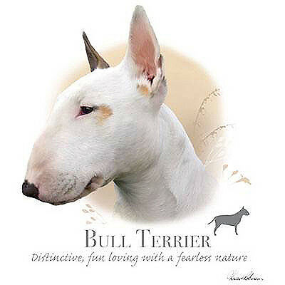 BULL TERRIER    fabric panel & paws fabric panel howard robinson
