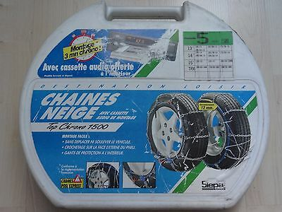 CHAINES A NEIGE TOP CHRONO 1500 SIEPA N°5 ( 13 - 14 - 15 pouces )