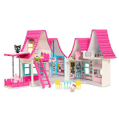 Hello Kitty & Friends Doll House Playset with 6 Rooms to Decorate NEW!
