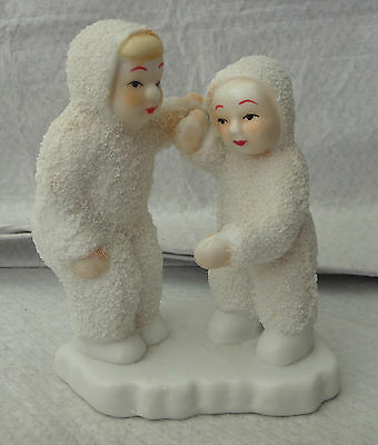 Antique Vintage Snow Babies Group Statue Display Hand Painted Faces