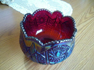 Carnival Glass Blue/red Bowl