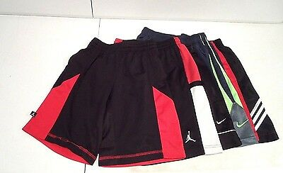Lot of 5 Nike & Adidas Boy's Shorts Sz Medium Basketball Air Jordan Dri-Fit Red