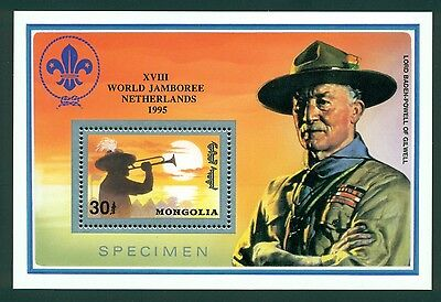 Mongolia Scott #2070 MNH PERF Scouting Netherlands Silver SPECIMEN on Selvage $$