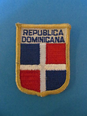 DOMINICAN REPUBLIC Shield Patch Hat Jacket Biker Vest Backpack Travel Country
