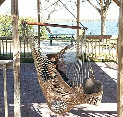 Mayan Hammock Chair - Large Hanging Swing Seat By Krazy Outdoors - High Quality
