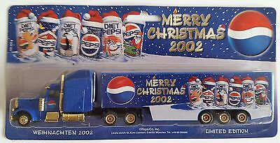 Pepsi Cola - MERRY CHRISTMAS 2002  / truck, US Freightliner, Scale 1:87 / HO
