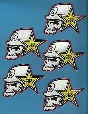 5 Lot Motocross Moto-X Metal Mulisha Rock Star Iron On Patches Crests