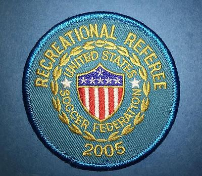 2005 USSF United States Soccer Federation Referee Football Jersey Patch Crest