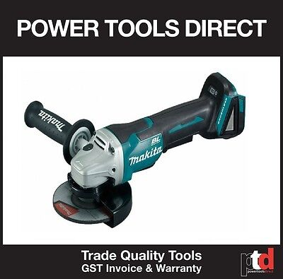 New Makita 18V 18 Volt Cordless Brushless Dga508Z 125Mm Angle Grinder Skin