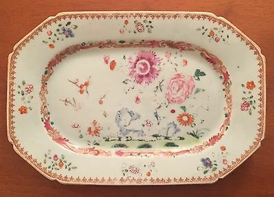 Chinese Export Porcelain Platter Dish Famille Rose mid 18th century 1765
