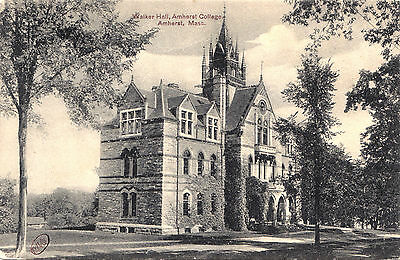 Walker Hall College AMHERST Mass USA 1907-12 Robbins Bros. Postcard