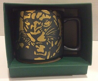Starbucks 2016 Sumatra Black With Gold Tiger Coffee Mug- New In Box