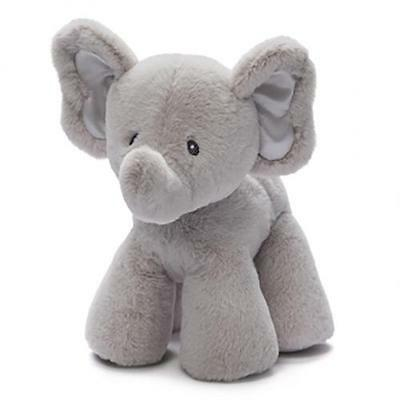 Elephant Soft Plush Toy by Baby Gund Grey Bubbles New Stuffed Infant Gift 19 cm