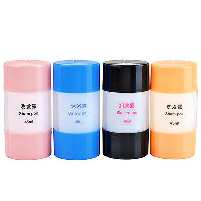 3pcs Set Bottle Portable Travel Packing Container Empty For Lotion Shampoo Bath